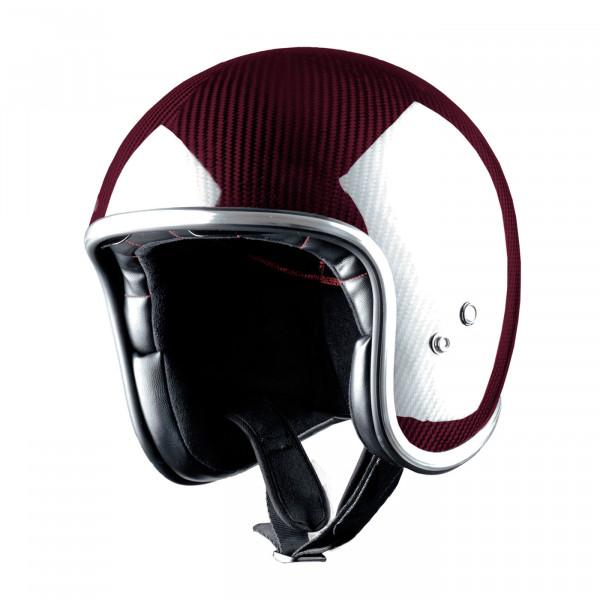 Casco jet Carbonio Astone Helmets Vintage rosso
