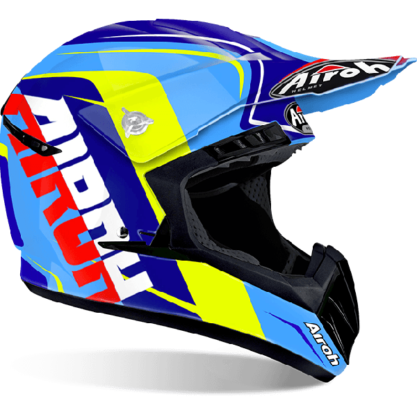 Airoh Switch Sign  off road helmet blue gloss
