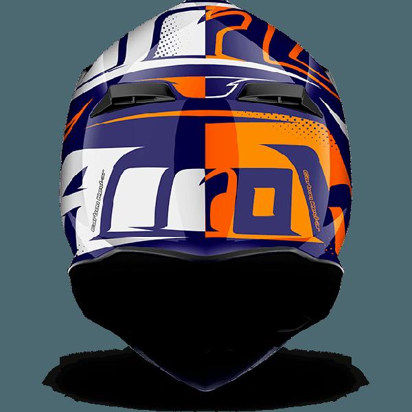 Airoh Terminator 2.1 S Cleft off road helmet orange gloss