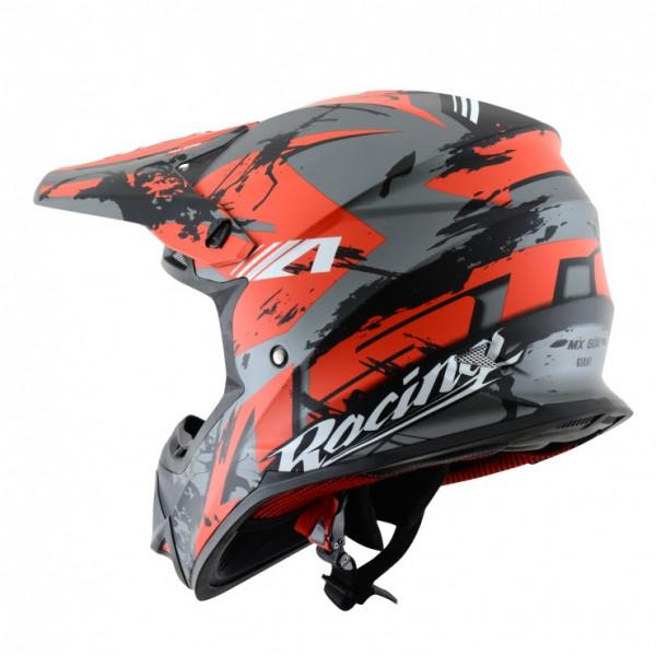Astone Helmets MX600 Giant Cross Helmet glitter red