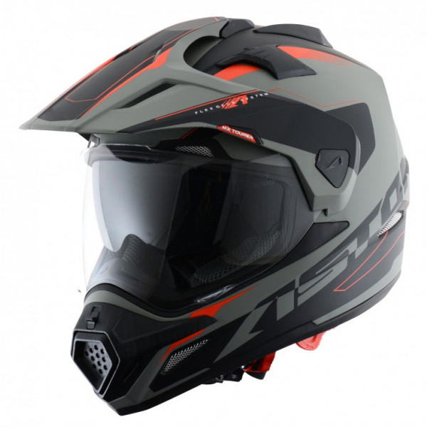 Astone Helmets Tourer cross helmet Grey Black