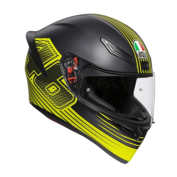 AGV K1 E2205 TOP EDGE 46 full face helmet Black Yellow
