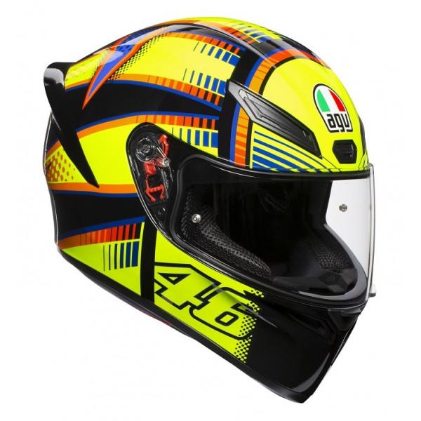 AGV K1 E2205 TOP SOLELUNA 2015 full face helmet yellow Orange Black