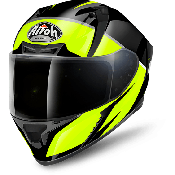 Airoh Valor Pinlock Ready  Eclipse full face helmet yellow gloss