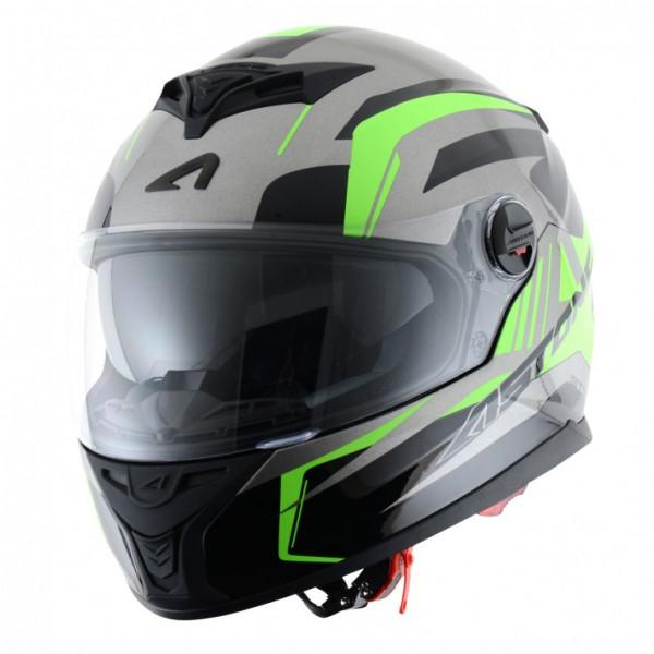 Astone Helmets GT800 Drone full face helmet fluo green grey
