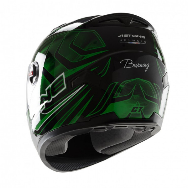 Astone Helmets GT Burning full face helmet green