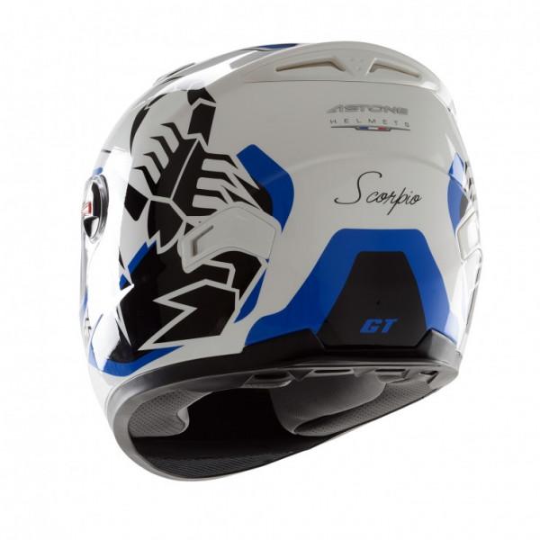 Astone Helmets GT Scorpio full face helmet bianco blue