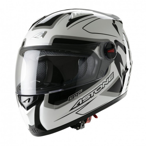 Astone Helmets GT Scorpio full face helmet white black grey