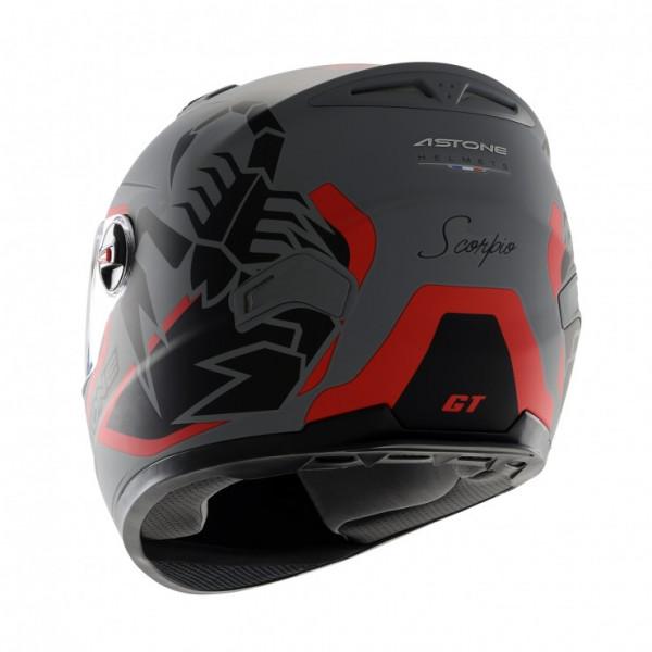 Astone Helmets GT Scorpio full face helmet matt grey red