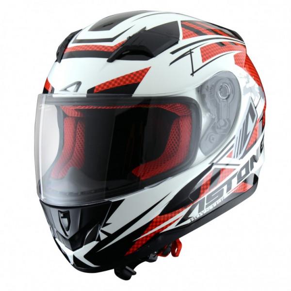 Astone Helmets GT600K Boyster kid full face helmet White Red
