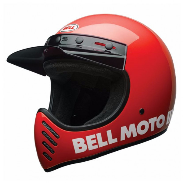 Bell Moto-3 full face helmet fiber Red