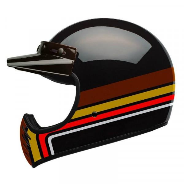 Bell Moto 3 Stripes full face helmet Black Orange