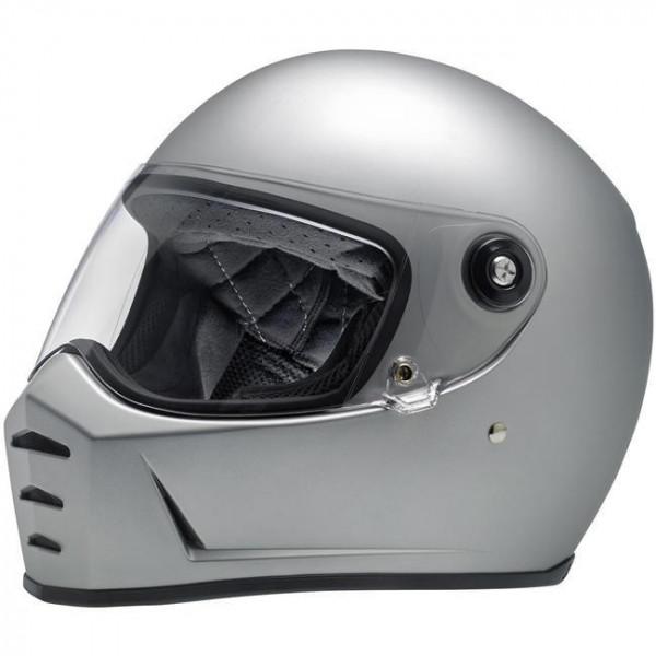 Biltwell full face helmet Lane Splitter Flat Silver