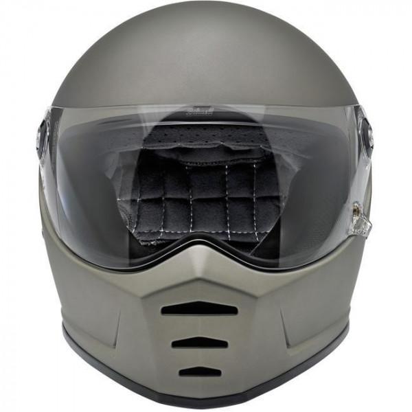 Biltwell full face helmet Lane Splitter Flat Titanium