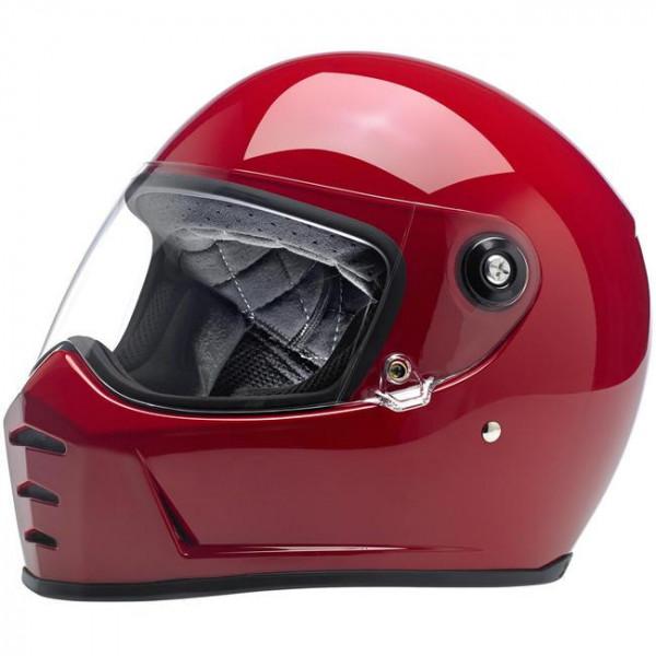 Biltwell full face helmet Lane Splitter gloss red