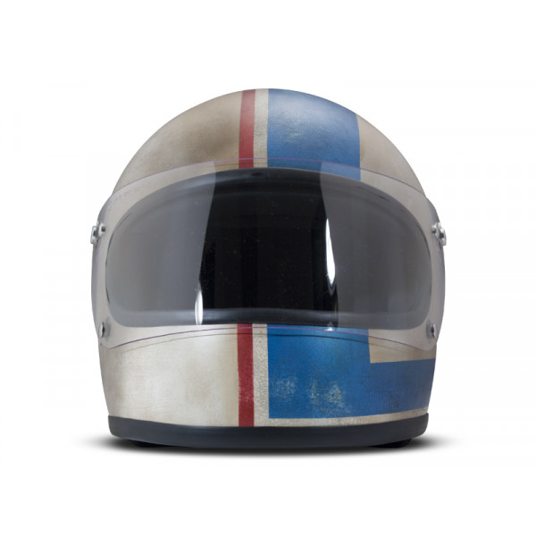 DMD Handmade Rocket R80 full face helmet carbon Grey Blue