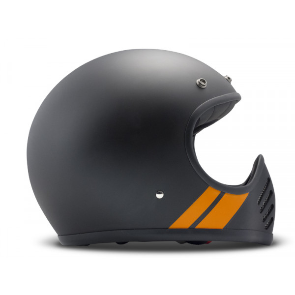 DMD SeventyFive Stripe full face helmet carbon Dark Grey Orange