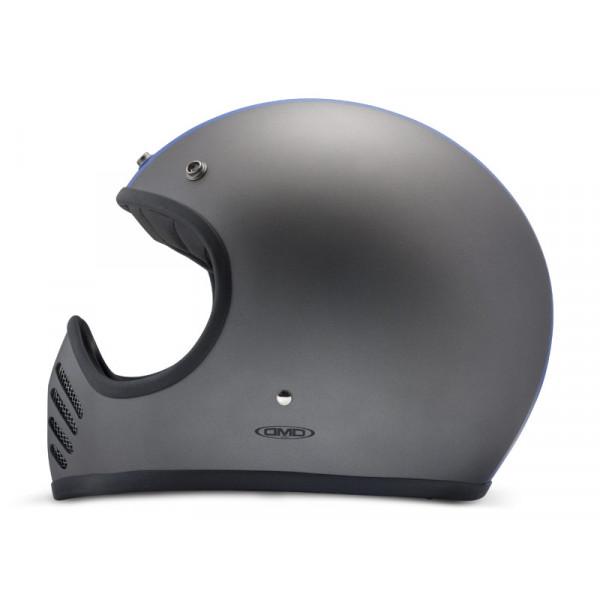 DMD SeventyFive Track full face helmet carbon Grey Blue White