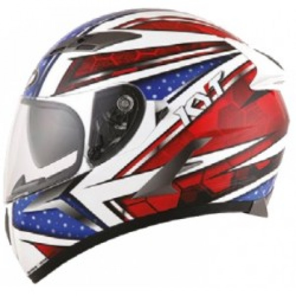 KYT full face helmet Falcon All Stars blue red
