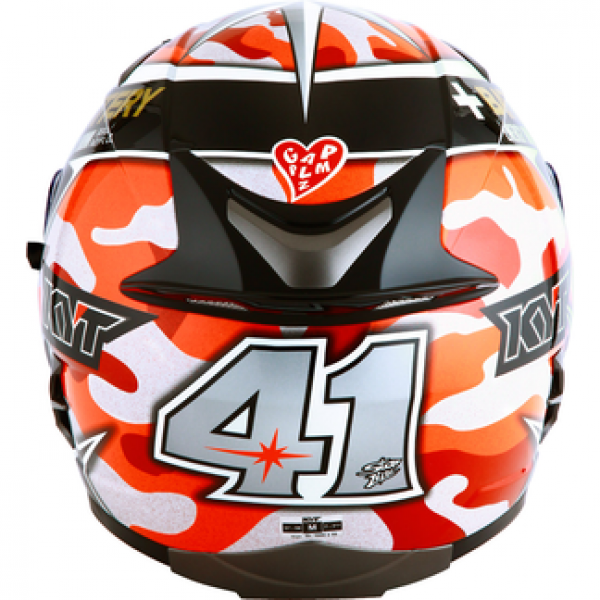 6d8a33d9 KYT full face helmet Falcon Espargarò Replica red fluo