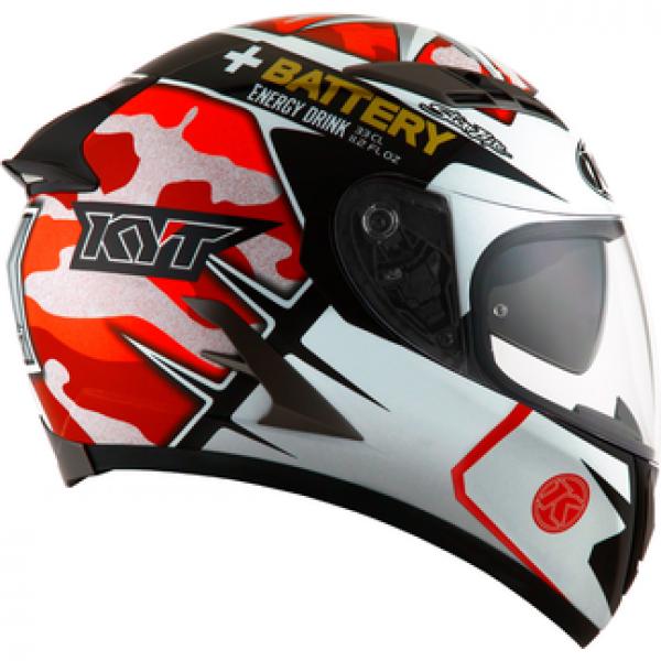 KYT full face helmet Falcon Espargarò Replica red fluo