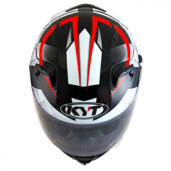 KYT full face helmet Venom Diamond black white