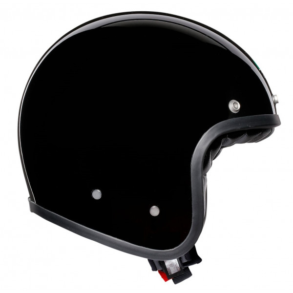 AGV Legends X70 E2205 SOLID jet helmet in fiber black