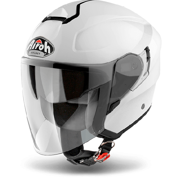 Airoh Hunter Pinlock Ready  Color  jet helmet white gloss