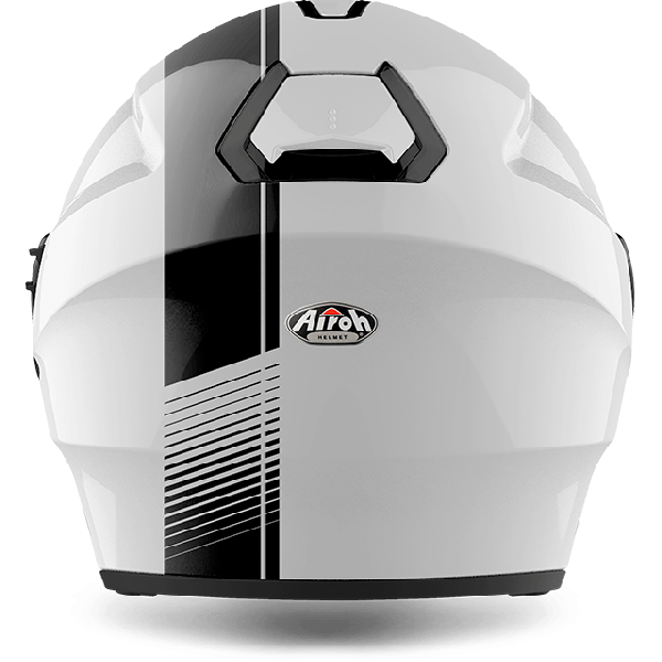 Airoh Hunter Pinlock Ready  Simple  jet helmet white gloss