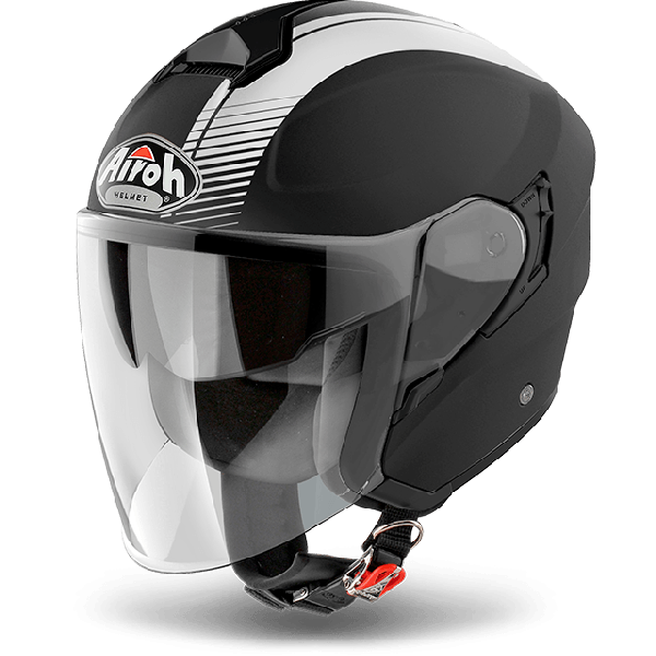 Airoh Hunter Pinlock Ready  Simple  jet helmet black matt
