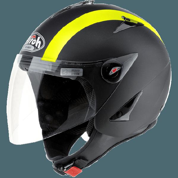 Airoh JT Bicolor jet helmet yellow matt