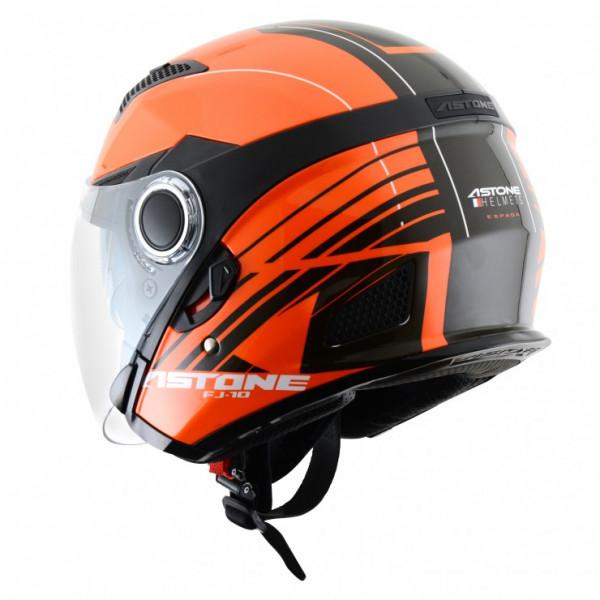 Astone Helmets FJ10 Espada jet helmets Orange Black