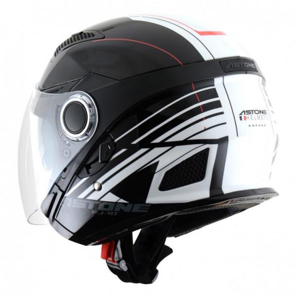 Astone Helmets FJ10 Espada jet helmets White Black