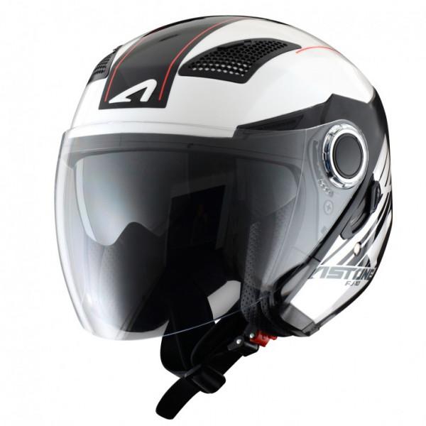Astone Helmets FJ10 Espada jet helmets Black White