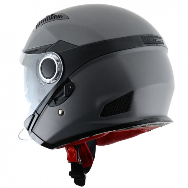 Astone Helmets FJ10 jet helmets Matt Gun Metal