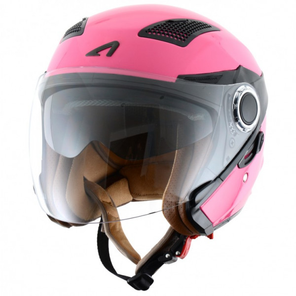 Astone Helmets FJ10 Lipstick jet helmets Gloss Pink