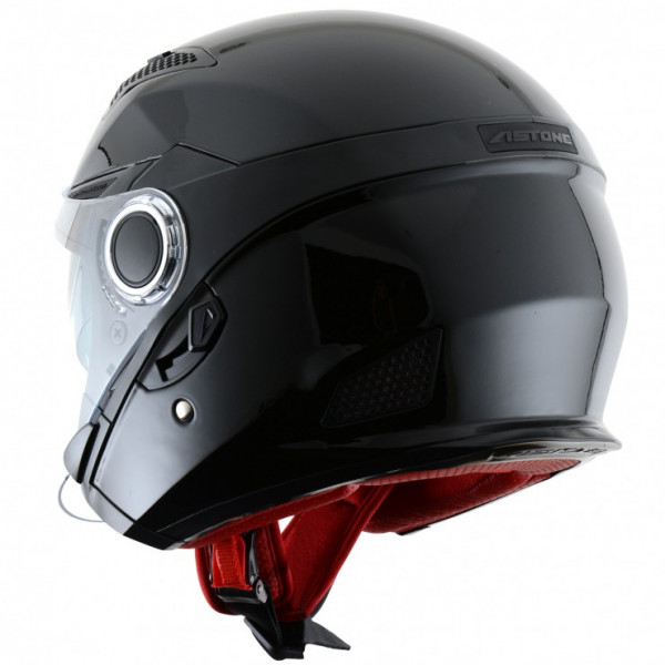 Astone Helmets FJ10 jet helmets Gloss Black