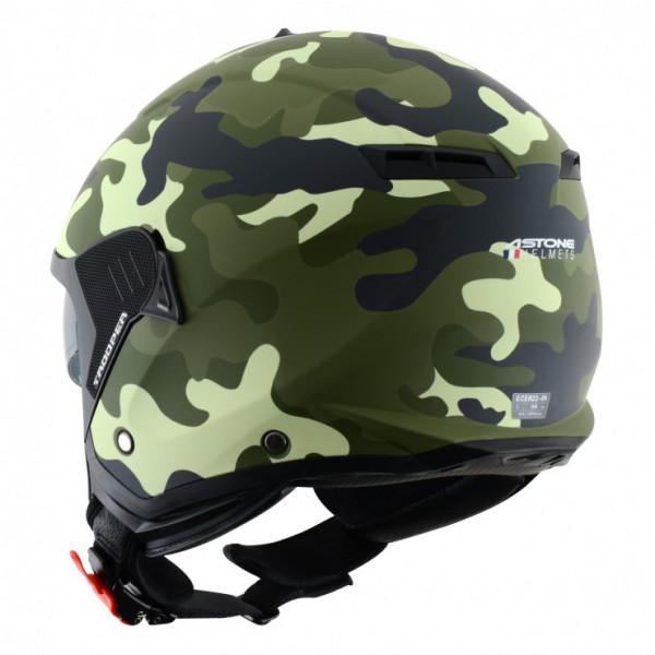 Astone Helmets Minijet Trooper jet Helmet matt camouflage army