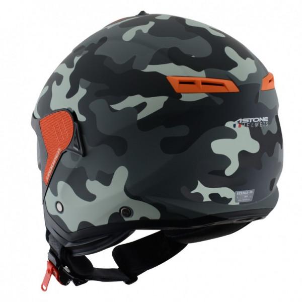 Astone Helmets Minijet Trooper jet Helmet matt camouflage grigio