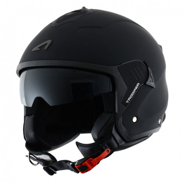 Astone Helmets Minijet Trooper jet Helmet Matt Black