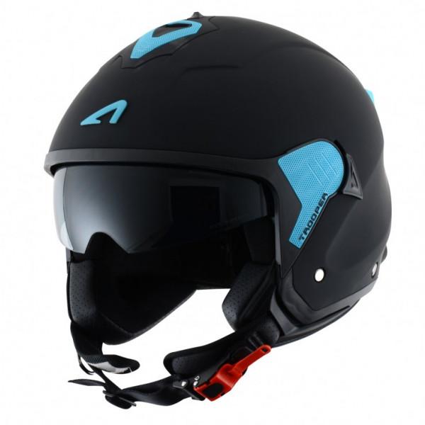 Astone Helmets Minijet Trooper jet Helmet matt black blue