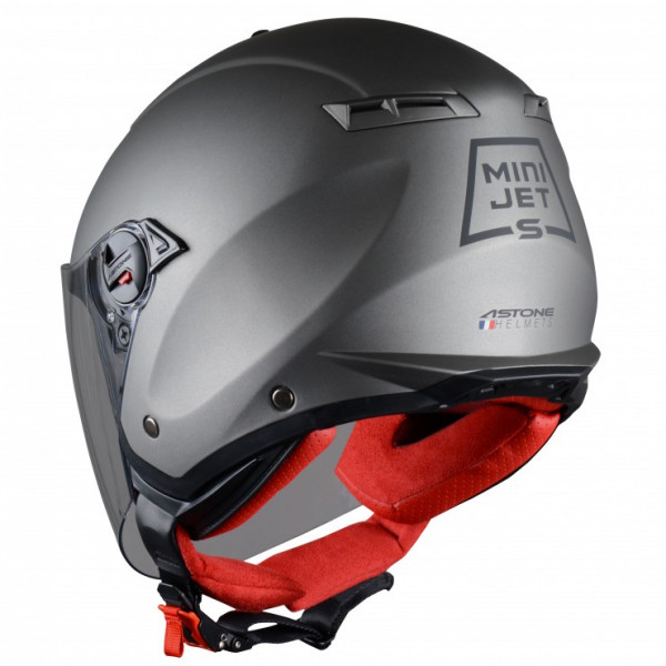 Astone Helmets mini jet helmet Matt Gun Metal