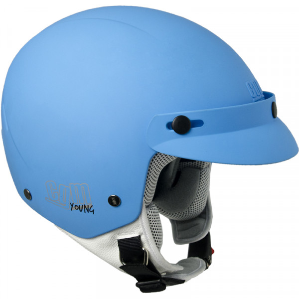 CGM 204S Cuba Smile kid jet helmet with stickers Matt Azul