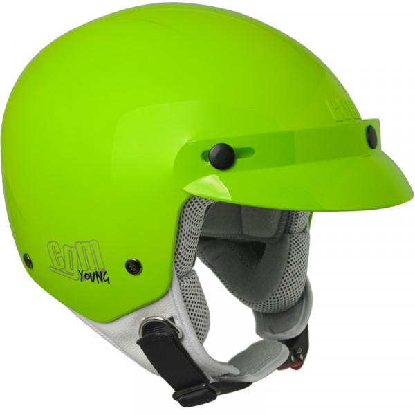 CGM 204S Cuba Smile kid jet helmet with stickers Green