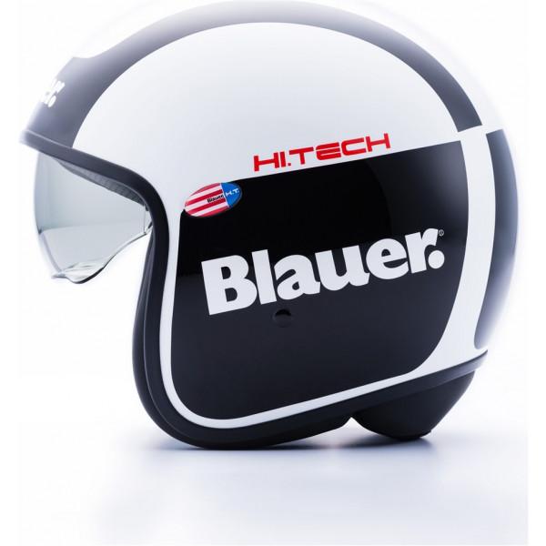 Blauer Pilot 1.1 H.T Graphic G jet helmet fiber White Gloss Black