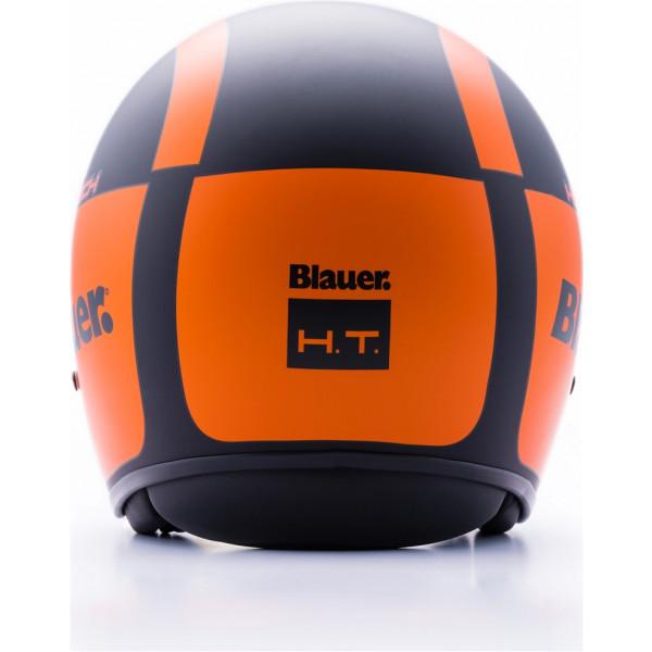 Blauer Pilot 1.1 H.T Graphic G jet helmet fiber Black Matt Orange