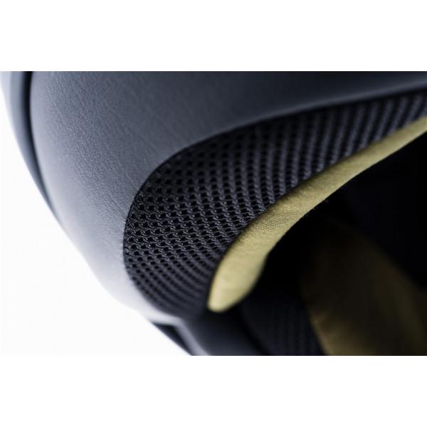Blauer Pilot 1.1 H.T Graphic G jet helmet fiber Matt Black Green inner green