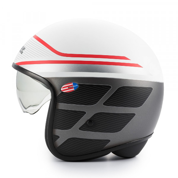 Blauer jet helmet Pilot 1.1 graphic B fiber gloss white