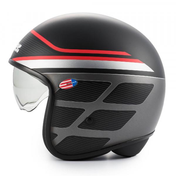 Blauer jet helmet Pilot 1.1 graphic B fiber matt black