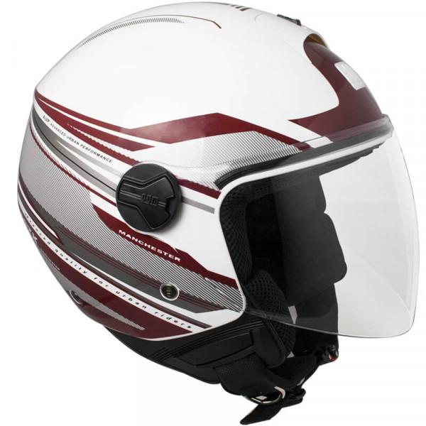 CGM 107X-FLA MANCHESTER jet helmete long visor White